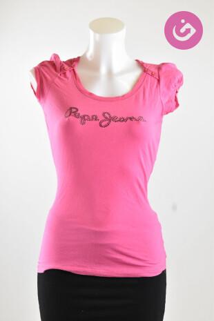 Dámské tričko, Vel. S, Pepe Jeans, barva růžová