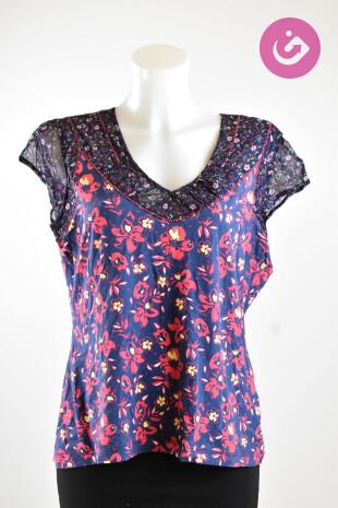 Dámské tričko, Vel. 40, Taifun, barva květovaná