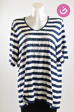 Dámské tričko, Vel. XXL, Gerry Weber, barva pruhovaná