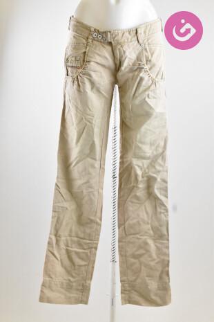 Dámské kalhoty, Vel. 26, Diesel, barva béžová