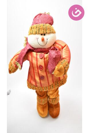 Bytový doplněk - sněhulák, barva pruhovaná, velikost