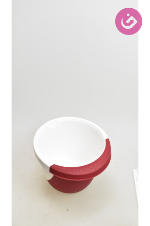 Bytový doplněk - Miska 1ks, barva bordó, velikost