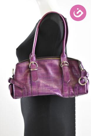 Dámská kabelka L. Credi, barva fialová, velikost