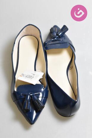 Dámské boty Zara, barva modrá, velikost 37