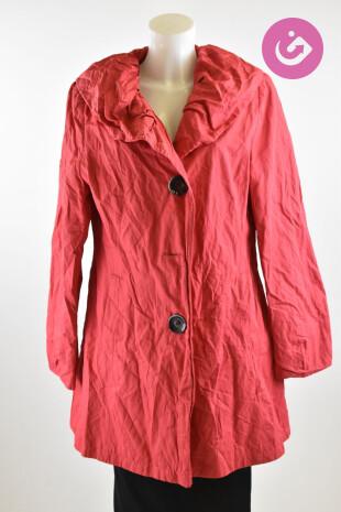 Dámský kabát Erich Fend, barva červená, velikost 42