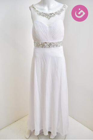 Dámské svatební šaty, barva bílá, velikost L
