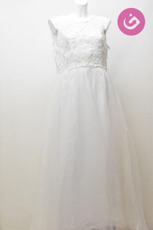 Dámské svatební šaty, barva bílá, velikost M
