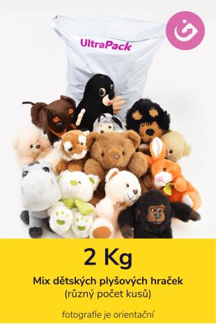 Plyšové hračky - 2 kg