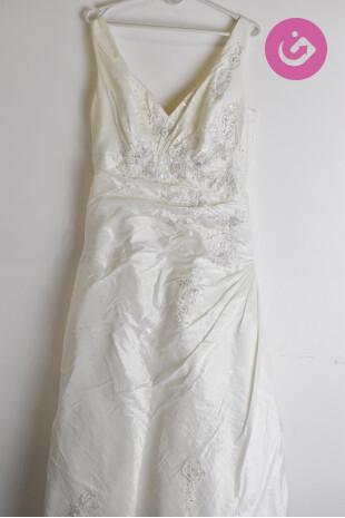 Dámské svatební šaty, barva béžová, velikost M