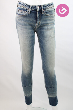 Dámské jeansové kalhoty, Velikost 27, Calvin Klein, barva modrá