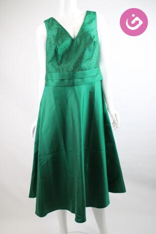 Dámské šaty, Velikost 42, Ashley Brooke, barva zelená
