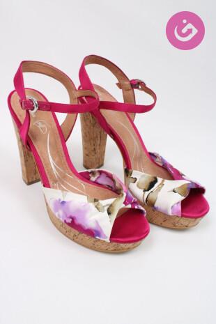 Dámské boty, Velikost 41, Baťa, barva květovaná