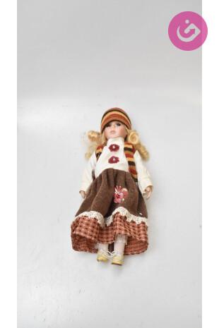 Bytový doplněk - Porcelánová panenka, barva vícebarevná, velikost