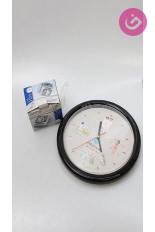 Bytový doplněk - Měřič krevního tlaku a hodiny, barva vzorovaná, velikost